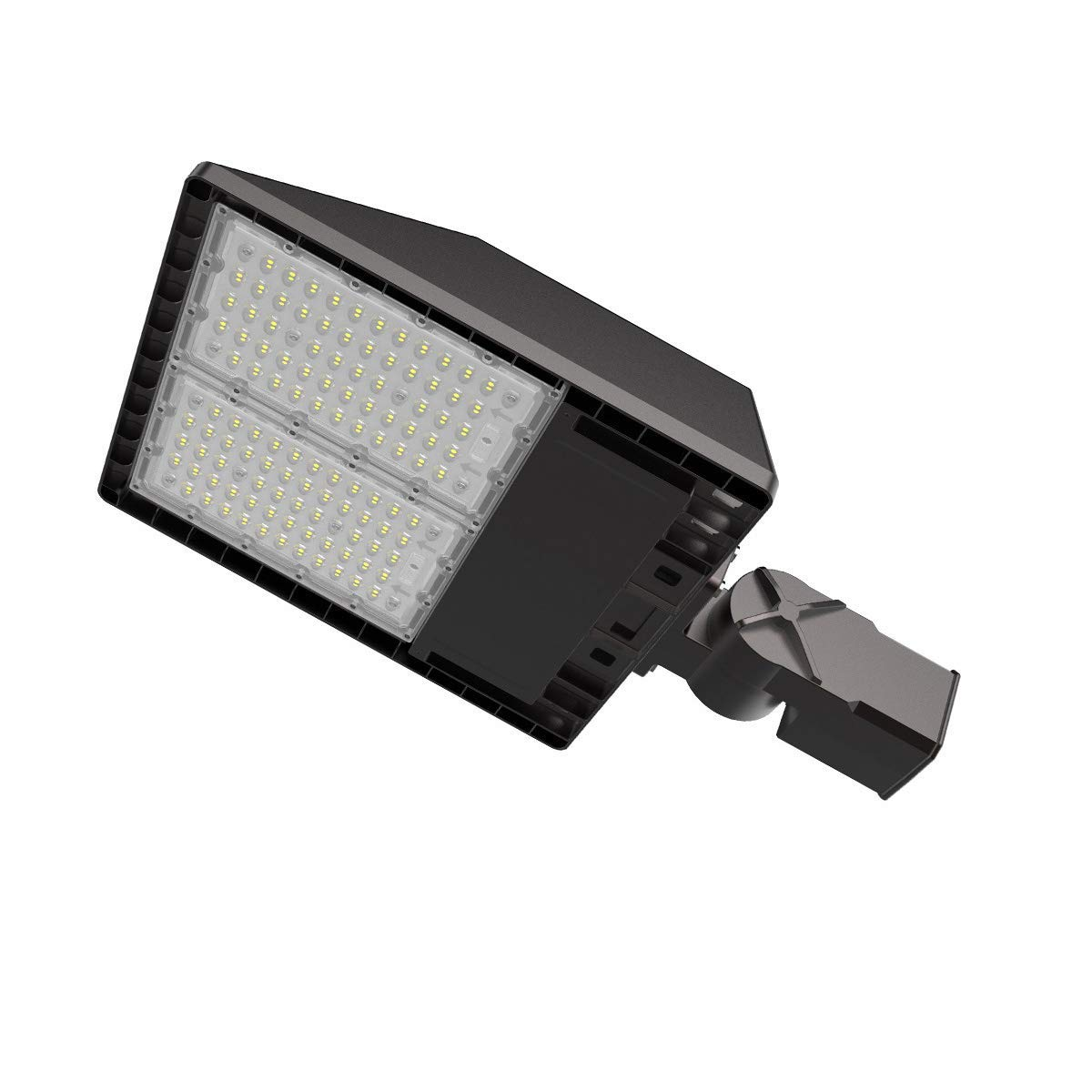 Adiding LED Street Shoebox Light with 3 Types of Mounting 200W Led Parking Lot Light 25000 Lumens 125 Lm/W, 5700K Outdoor Street Lamp with IP65 Rated UL DLC FCC 5 Years Warranty