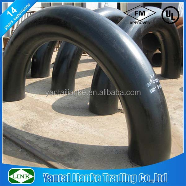 180 degree seamless 5d carbon steel pipe elbow\/bend