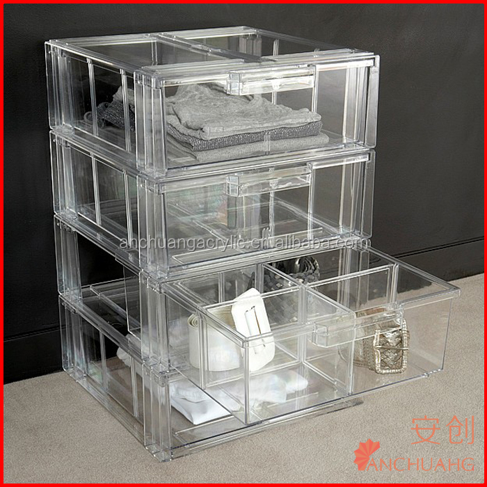 Acrylic Shirt Storage Stackable Drawer / Clothing Storage Boxes / Storage  Bins / Garment Storing
