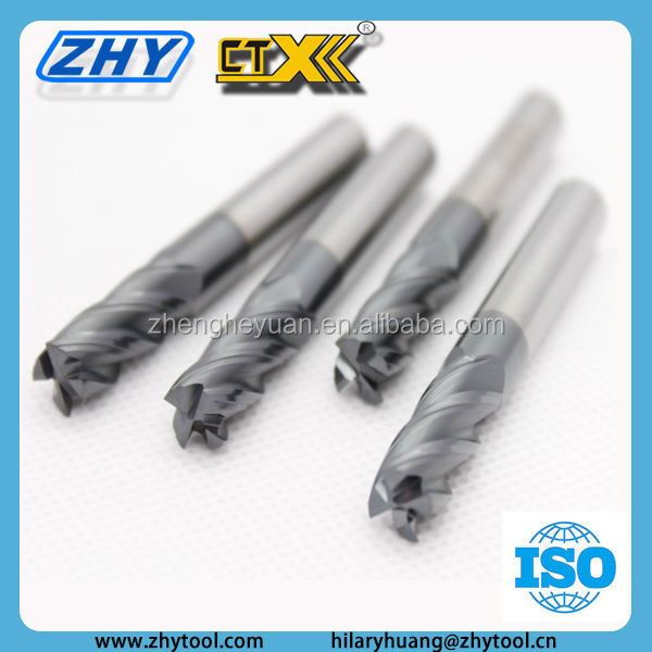 High Quality ZOLLER Identified HRC55 Tungsten Carbide Plain End Mill