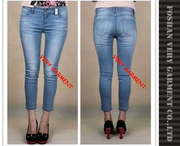Latest Capri Skinny Jeans Tops Girls