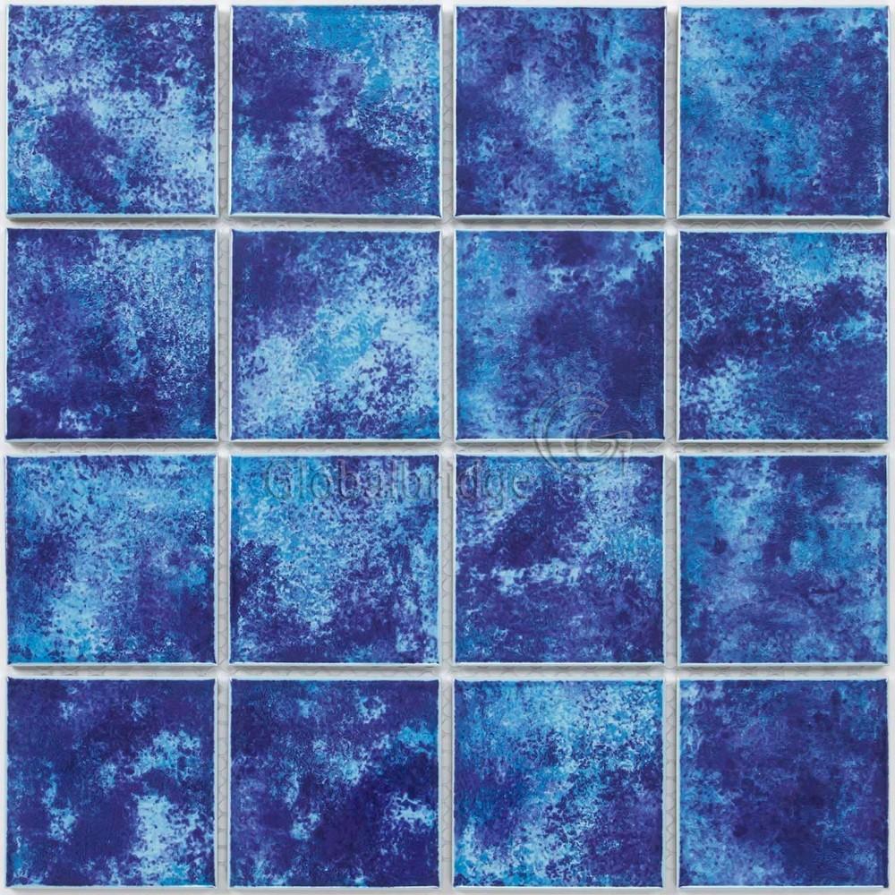 Color Azul Cerámica Mosaico De Baldosas Piscina Materiales De ...