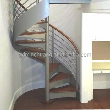 Professional Customized Spiral Staircase Building Spiral Stairs Domestic  Indoor
