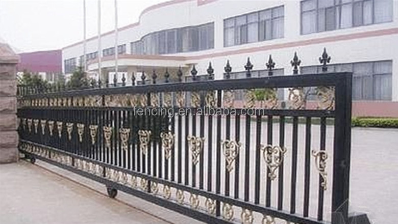 Alibaba factory beautiful sliding entrance gate designs - Sliding main gate design for home ...