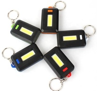 Free Sample Promotion Portable Mini 3 Mode 30 LM Key Chain Flash 3AA Battery Magnetism 1W Cob LED Key Chain Lamp