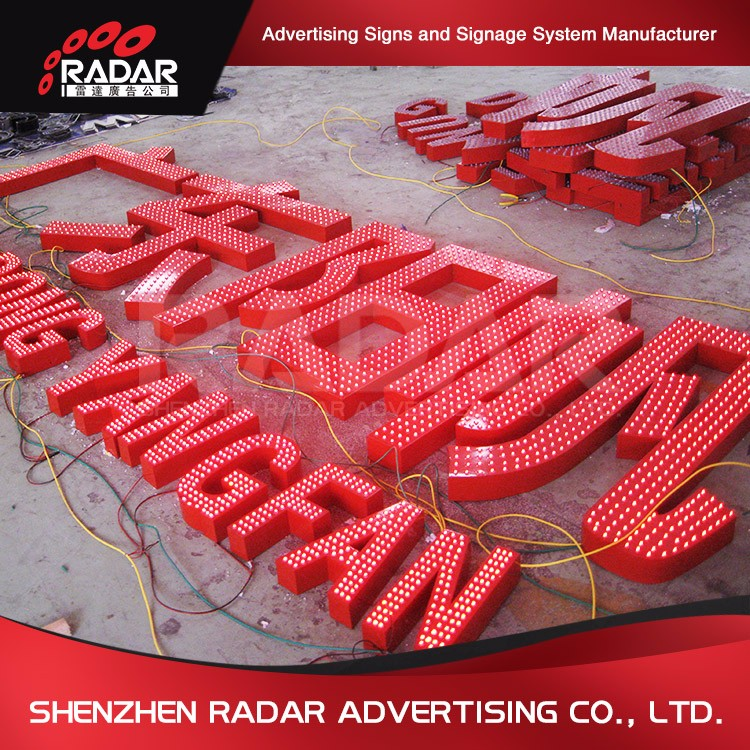 Chinese Manufacture OEM outside led signs for Advertising Light Boxes