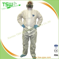 Food Factory And Hospital SMS Radiation Protective Coveralls Red