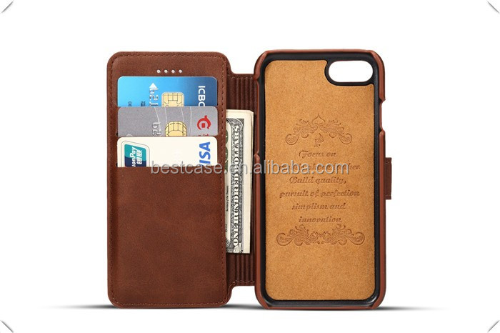 For Iphone7 retro flip leather phone shell, for Iphone 7wallet stand card slots