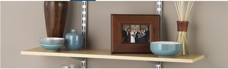 Customized Pu Paper Faced Particle Board Shelf View
