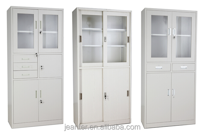 Half Glass Door Metal Furniture Metal Lab Wall Cabinet For Dubai