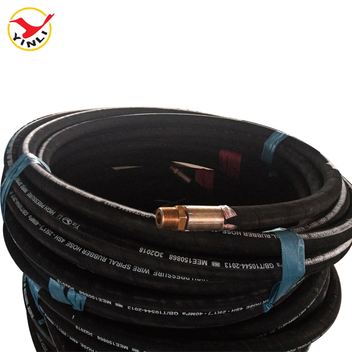 SAE 100 R1AT/R2AT DIN EN853 1SN/2SN Wire Braided Hydraulic Rubber <strong>Hose</strong> With NPT Coupling