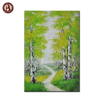 interior decoration knife wall art paintings of birch trees pictures
