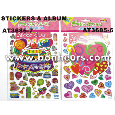 New Novelty Toy Kids Colorful Party Pattern 50Pcs Album Stickers