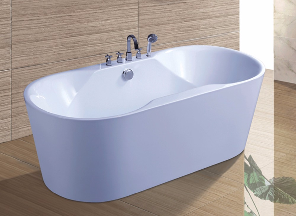 c6508 freestanding bath tub with stainless steel stents bathtubs