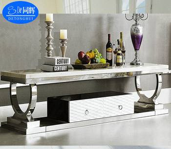 TV 842# Living Room Furniture Luxury Granite Top TV Stand