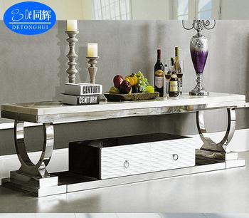 Tv 842 Living Room Furniture Luxury Granite Top Stand