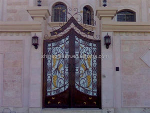 GYD-15G0180 artificial Chinese knotting wrought iron main gate designs