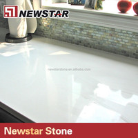 Pure white Quartz Composite Countertops