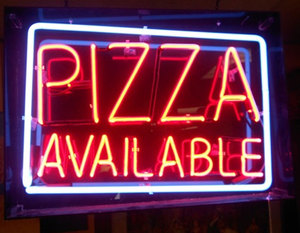 High Quality real glass custom PIZZA advertising neon sign for restaurant pub coffee shop