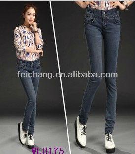 2d085a1fcc4a5 korean fashion ladies tops latest design denim jean sexy skinny hot girl  jeans