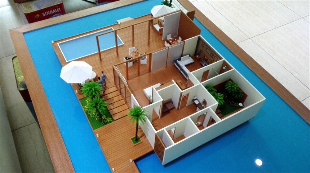 Architecture Scale Model For Resort In Maldives For