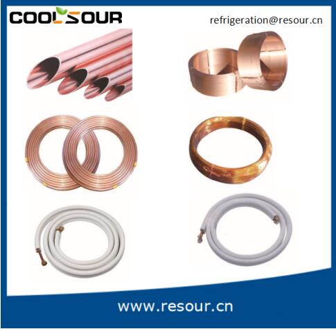 Coolsour Air Condition Or Refrigerator Coil Copper Pipe Type refrigeration fittings
