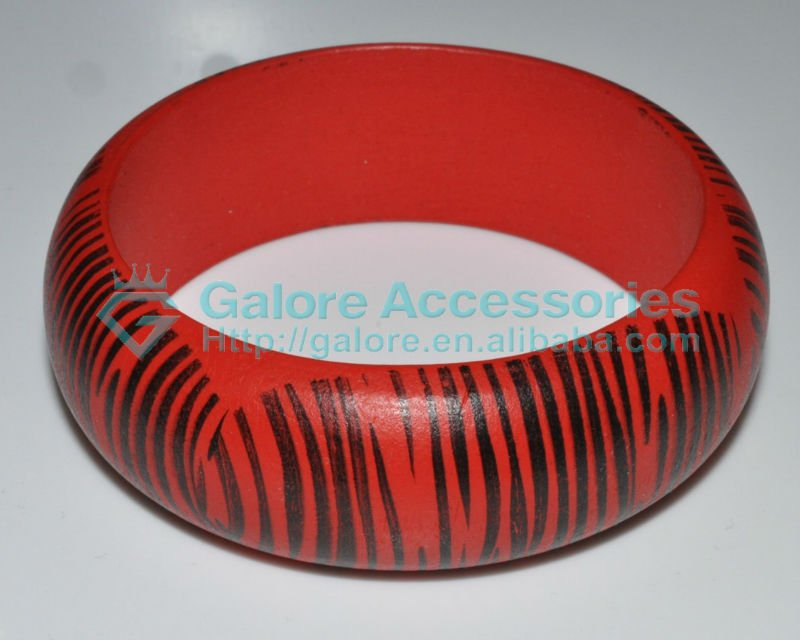fashion zebra animal printing wod bangle
