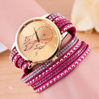 2906 Dream Catcher Crystal Diamond Geneva Watch Activity Bracelet Vintage