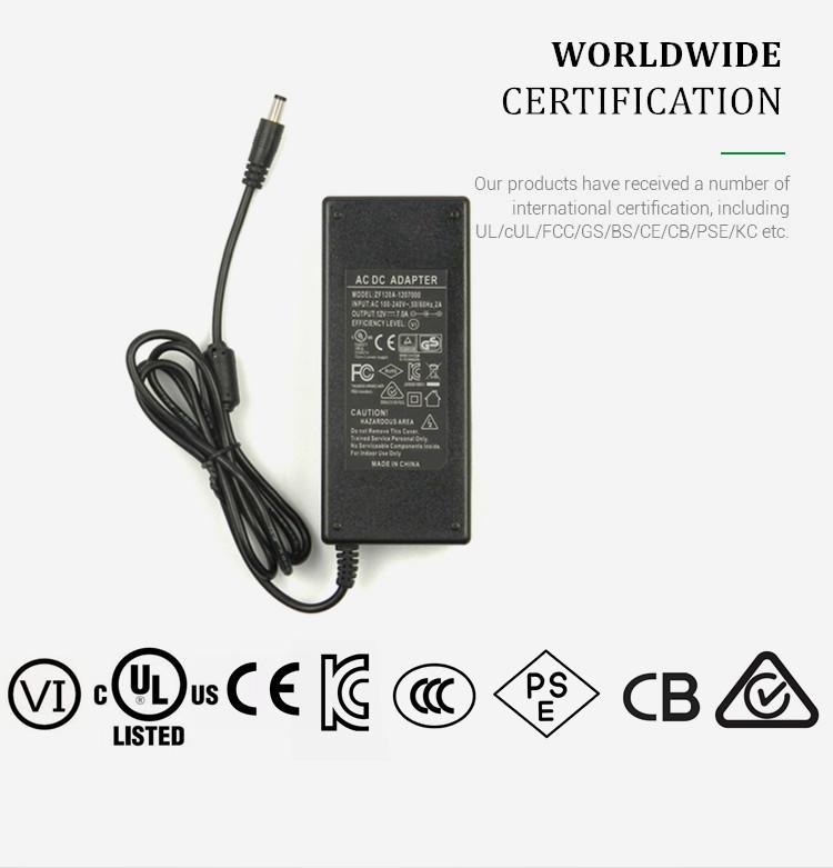 72W evrensel konektörü ac dc güç adaptörü 12volt 6amp ile UL PSE KC CE CCC sertifikalı