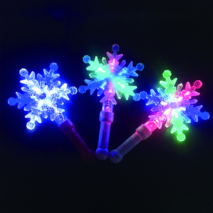 Christmas Decoration Color Changing Snowflake Cheering Stick Led Snowflake Light Stick