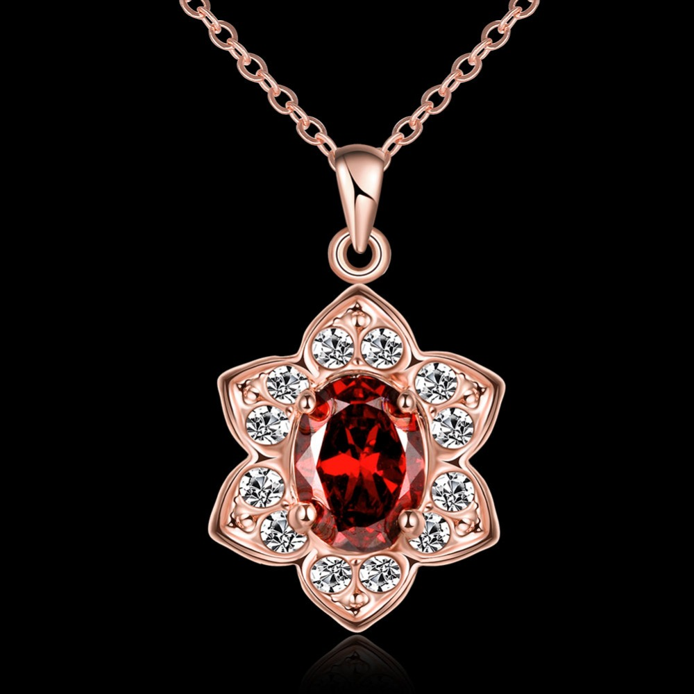 Turkish jewelry flower rose gold necklace wholesale