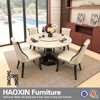 Cairo Round Marble Dining Table And Chairs For Sale