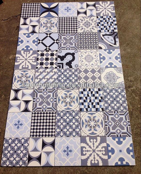 Handmade Antique Encaustic Cement Floor Tiles Non Slip Porcelain