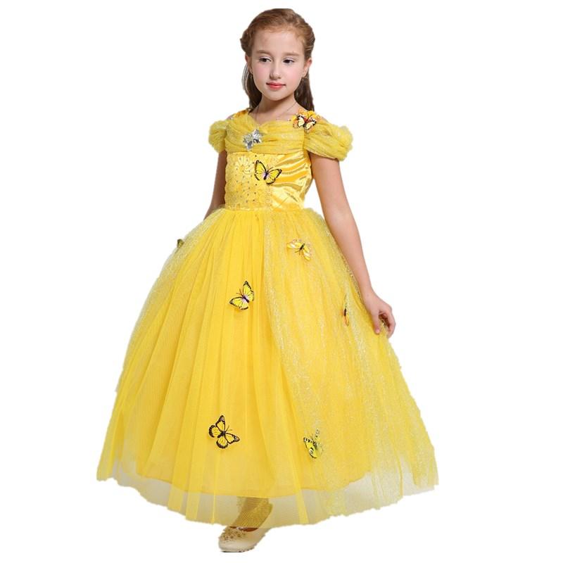 14f6fd1948 Chica de belleza y la Bestia traje vestido de Navidad ropa de los niños  vestido de