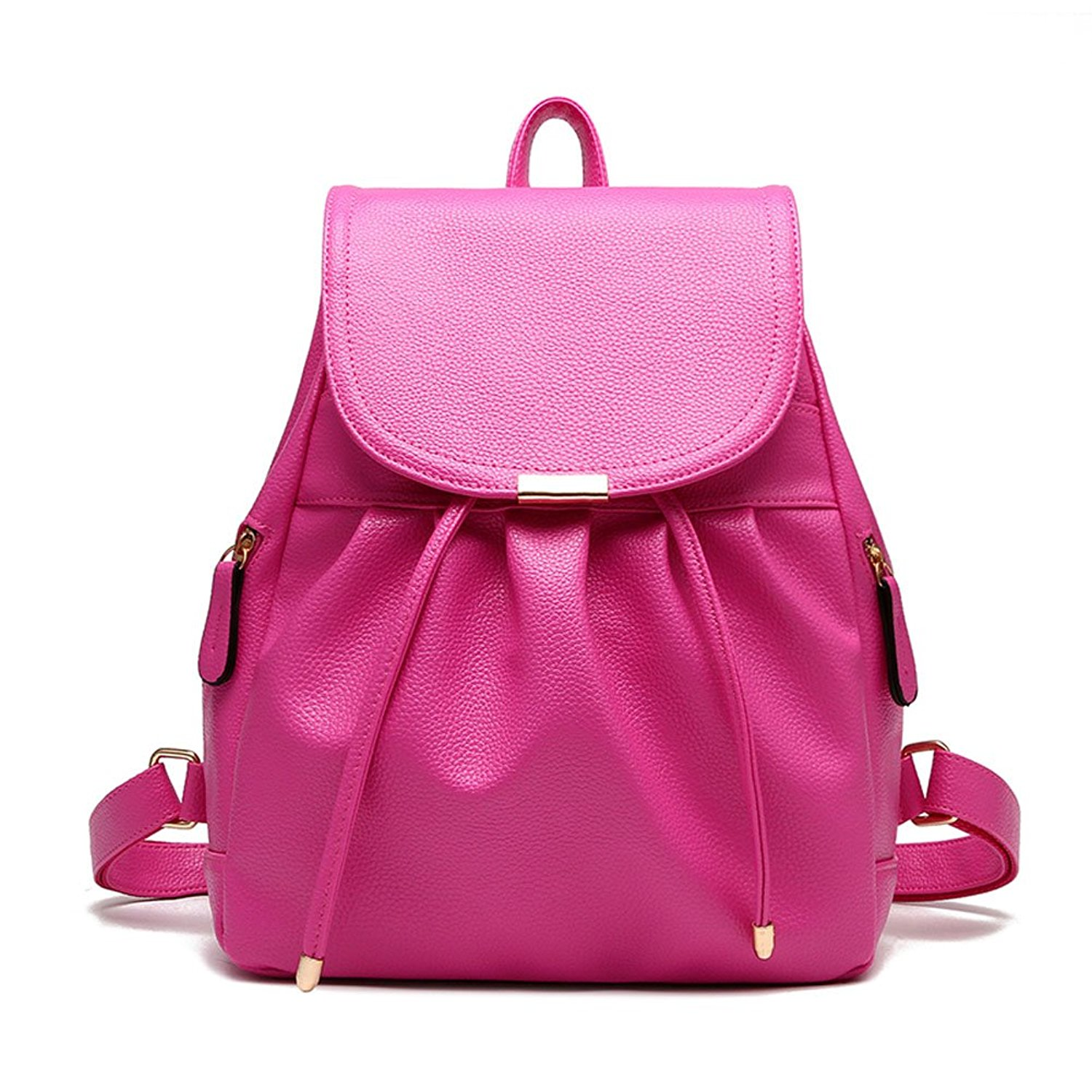 937296c6f0 Get Quotations · Joulifu Classical Retro College Daypack Womens Leather  Backpacks for Girls