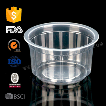 100ml PP disposable plastic costum flower jelly saucer cups