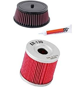 Buy K&N Motorcycle Air Filter + Oil Filter Chrome 2011-2016