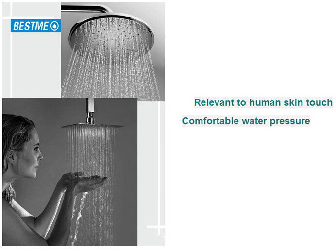 Good price Luxury bathroom rain fall chromed abs plastic head rain show er head BF-M020