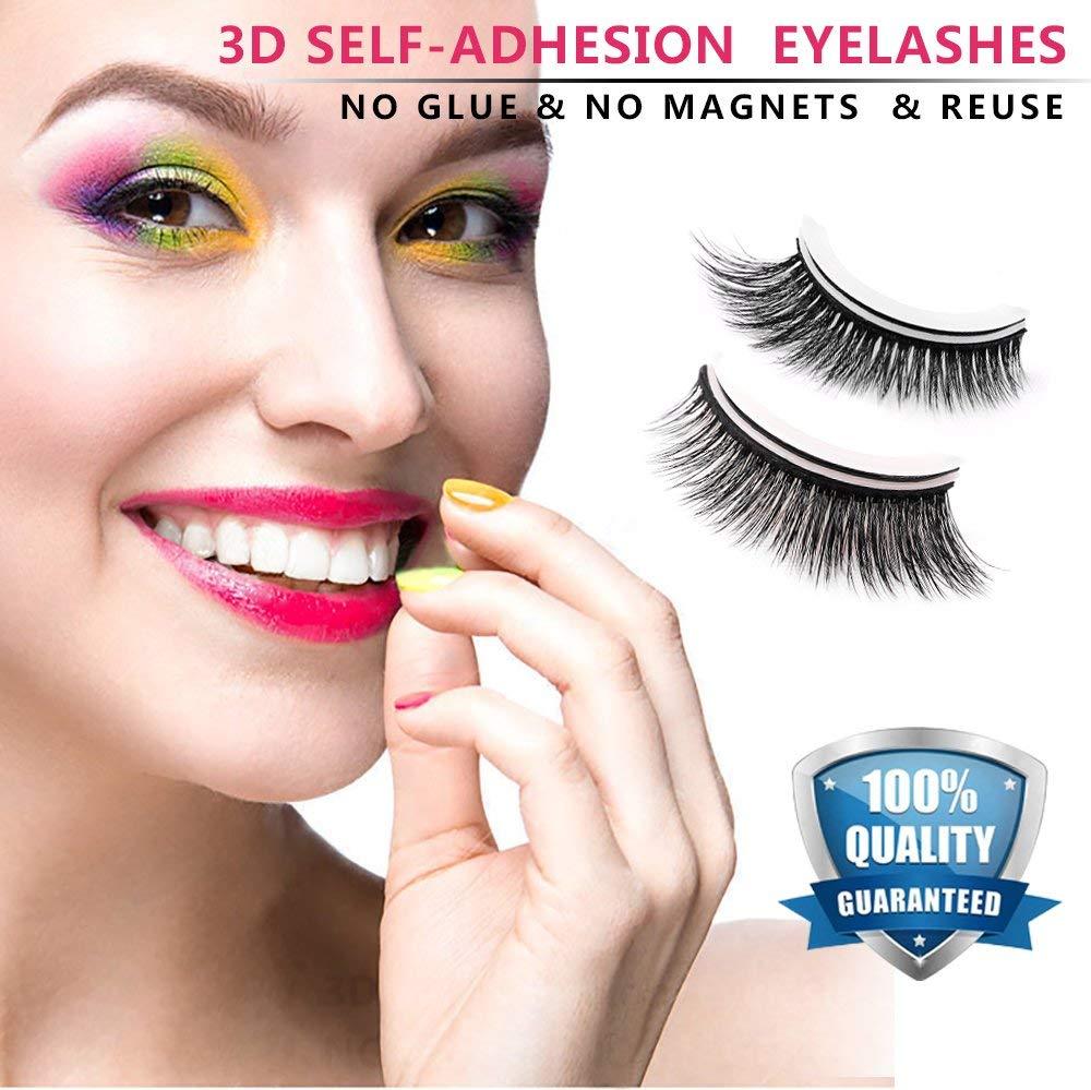 80683f5d262 Get Quotations · False Eyelashes 3D Self-adhesive Fake Eyelashes Extension  Natural Eye Lashes NO Magnetic Eyelashes NO