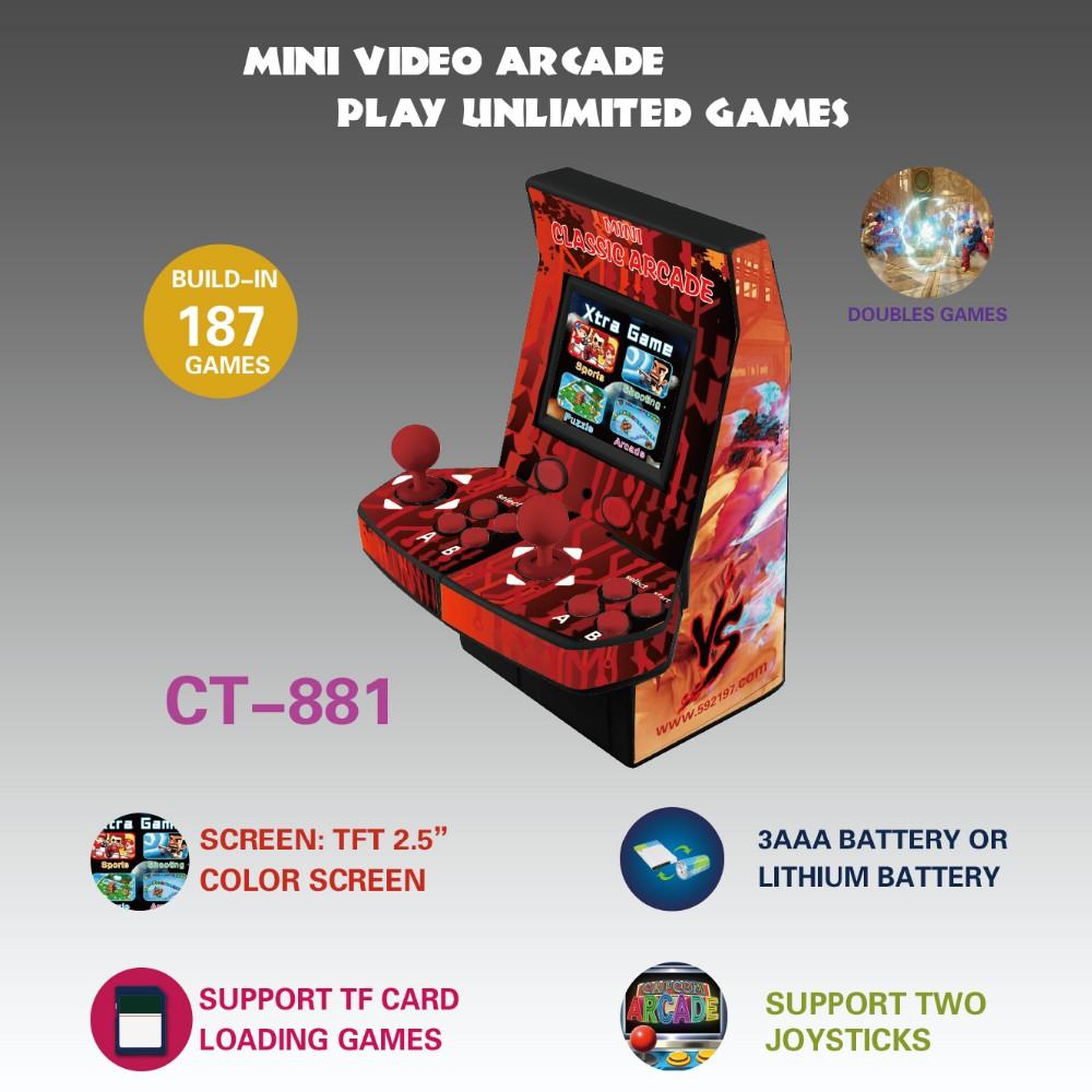 8 Bit Mini Juegos Arcade Clasicos Consola Dos Joysticks Y Tarjeta