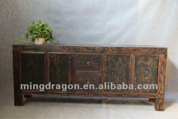 Antiek Grenen Tv Kast.Chinese Antieke Meubelen Grenen Hout Donker Hout Kleur Shanxi Vier