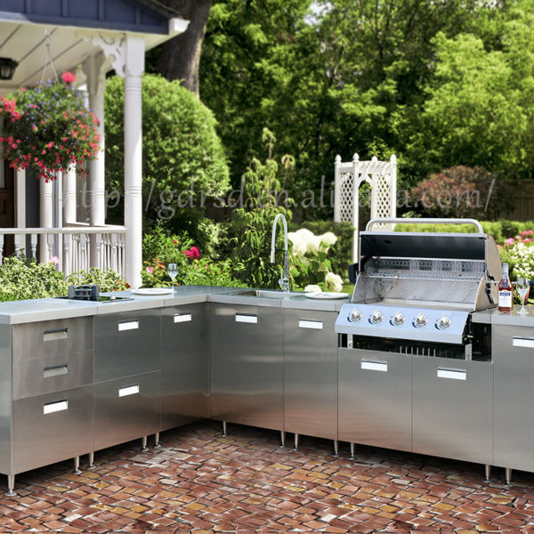 Stainless Steel Cabinets For Outdoor Kitchens: Modern Stainless Steel Outdoor Kitchen Cabinet,Outdoor