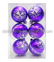 6cm matt purple painted plastic christmas ball for christmas
