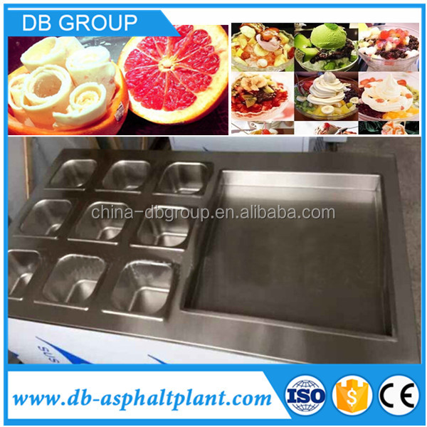 Wholesale price commercial fried ice cream machine ice pan roll machine