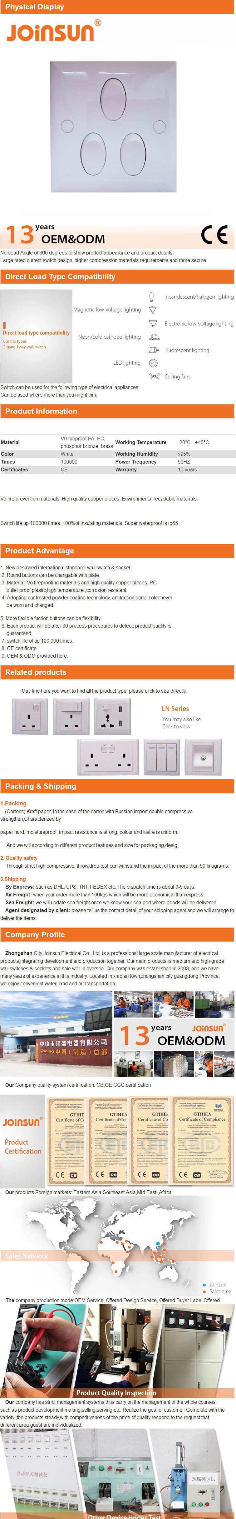 Qming Low price vintage switch panel 86  16A 250V 3 Gang electrical wall switches