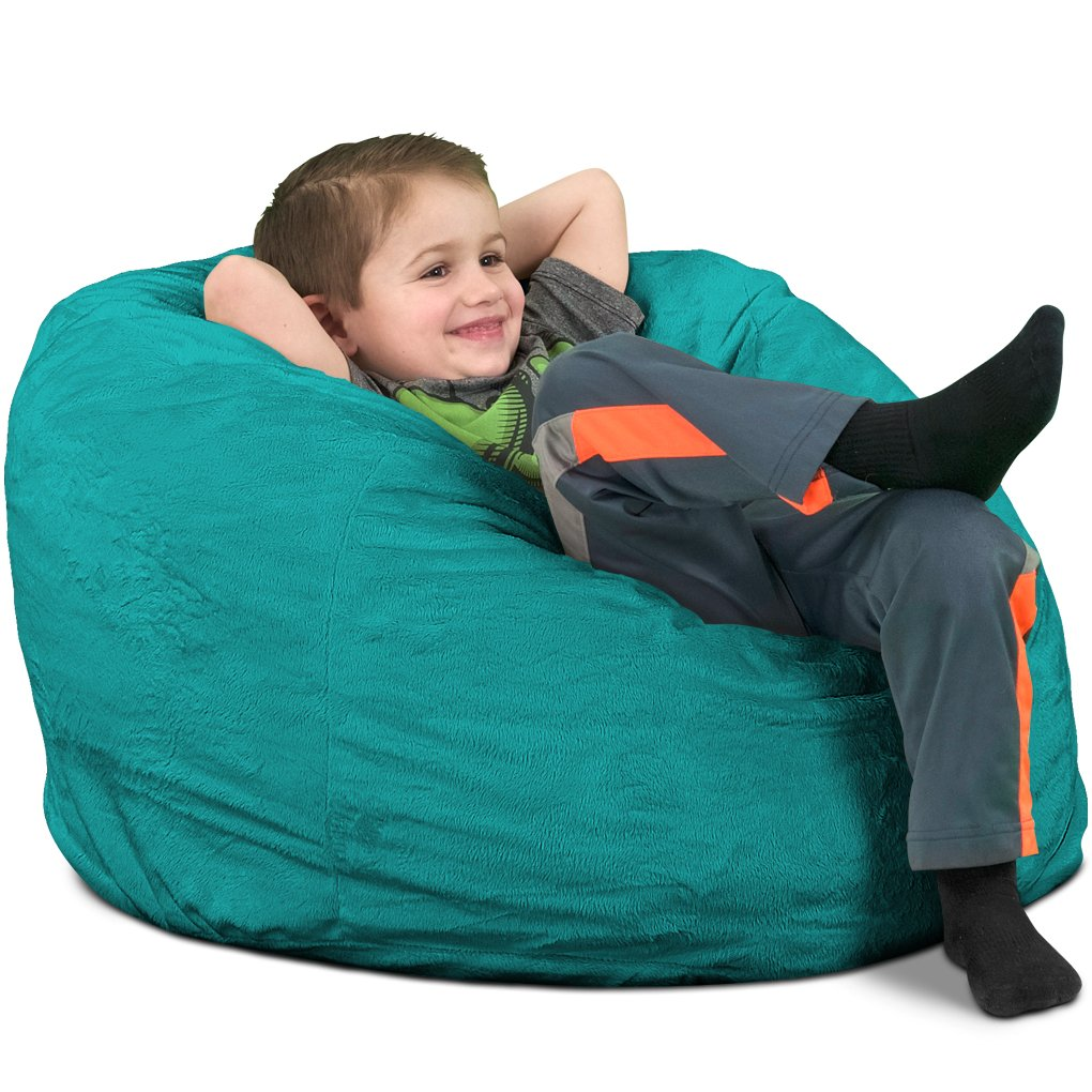 Get Quotations · Ultimate Sack Kids Sack Bean Bag Chair: Giant Foam Filled  Furniture   Machine Washable