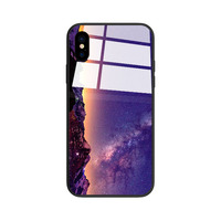 New Style customize tempered glass cover creative cell phone case for iPhone X 8 7 6 6s Plus
