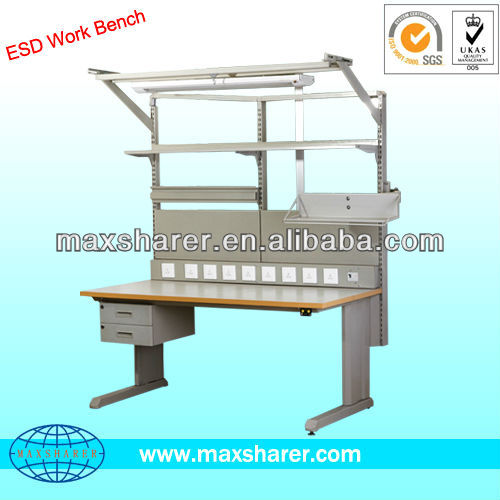 adjustable height antistatic Work bench with drawer