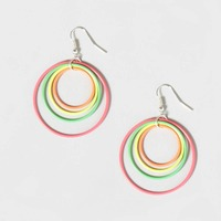 Zooying Fashion Hoop Earring with Colorful Plastic Pipe for Woman
