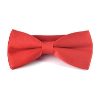 High Quality red polyester adjustable bow tie for boys